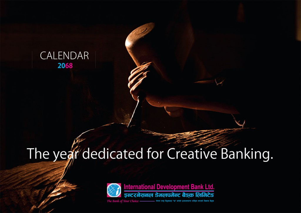 creative, exclusive, inspirational, corporate desk calendar - cover