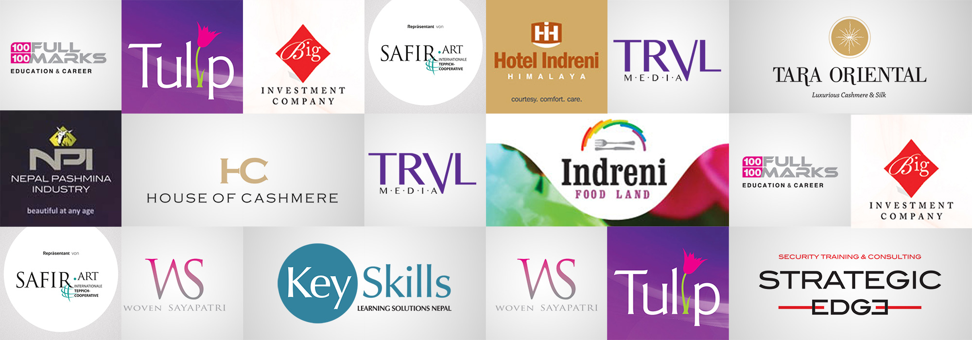 professional experience in logo design, report, book & advertising