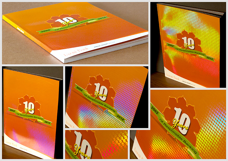 high quality, best design & exclusive annual report for laxmi bank - cover