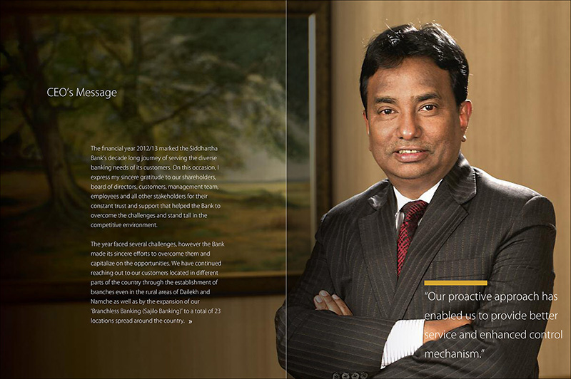 exclusive, creative annual report for Siddhartha Bank Nepal - page-1
